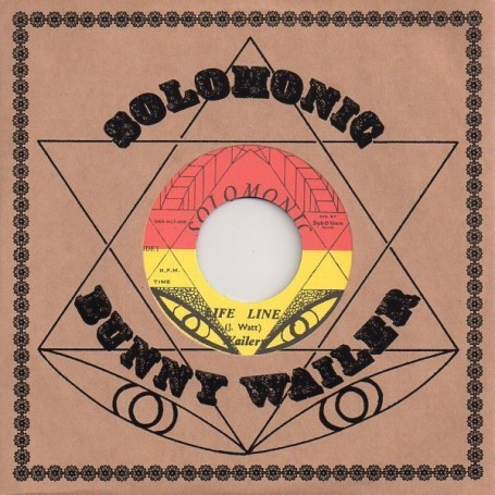 "(7"") WAILERS - LIFE LINE / BIG YOUTH - BLACK ON BLACK"