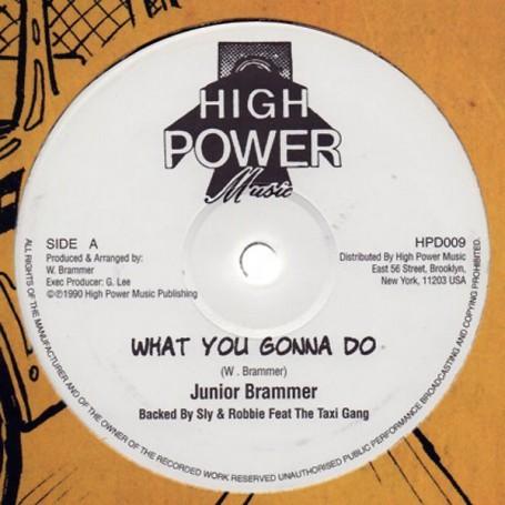 """(12"""") JUNIOR BRAMMER - WHAT YOU GONNA DO / GENERAL LEE - SLAM SLAM"""