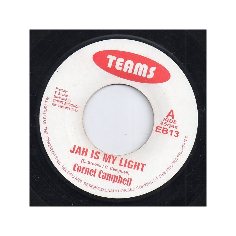 """(7"""") CORNELL CAMPBELL - JAH IS MY LIGHT / VERSION"""