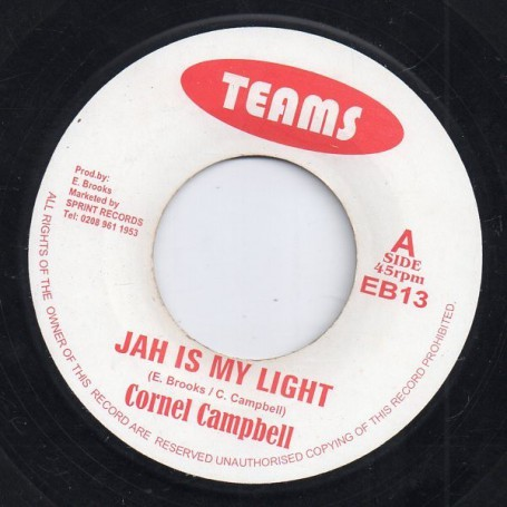 "(7"") CORNELL CAMPBELL - JAH IS MY LIGHT / VERSION"