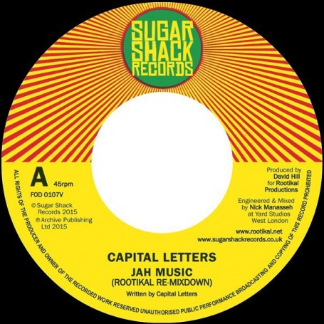 "(7"") CAPITAL LETTERS - JAH MUSIC / DUB"