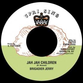 """(7"""") BRIGADIER JERRY - JAH JAH CHILDREN / UPRISING ALL STARS - JAH IN DUBB"""