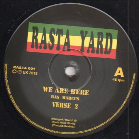 "(12"") RAS MARCUS - WE ARE HERE / RAS TUFFY IRIE - CHALICE HARD"