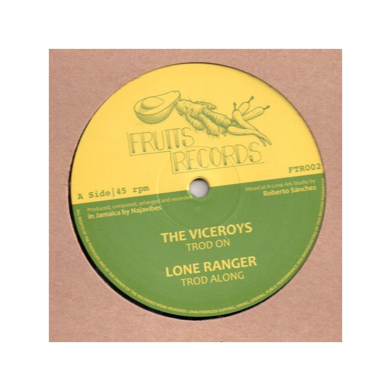 """(12"""") THE VICEROYS - TROD ON / LONE RANGER - TROD ALONG / PRINCE ALLA - JAH LOVE IN THE MORNING / ROBERTO SANCHEZ - JAH LOVE DUB"""