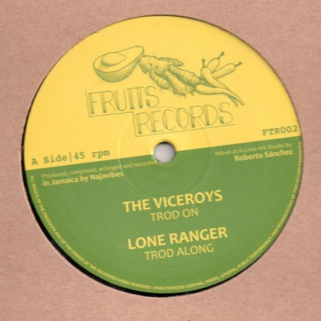 "(12"") THE VICEROYS - TROD ON / LONE RANGER - TROD ALONG / PRINCE ALLA - JAH LOVE IN THE MORNING / ROBERTO SANCHEZ - JAH LOVE DUB"