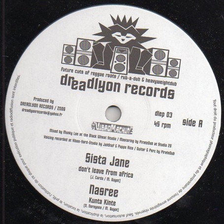"(10"") SISTA JANE - DON'T LEAVE FROM AFRICA / RAS HASSEN-TI - BUILD DA TEMPLE"