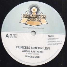 "(12"") PRINCESS SIMEON LEVI - WHO IS RASTAFARI / CRUCIAL STEVE - ARAB SPRING"