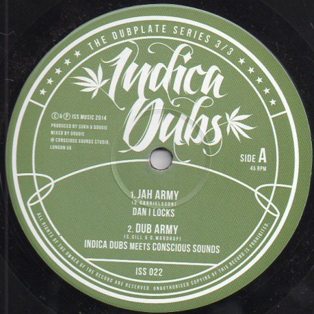 "(10"") DAN I LOCKS - JAH ARMY / MARCH OF THE BUSHMAN"