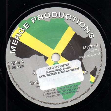 "(7"") EARL SIXTEEN & RAS ZACHARRI - JAH IS MY KEEPER / KEEPER DUB"