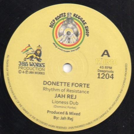 """(12"""") DONETTE FORTE - RHYTHM OF RESISTANCE / JAH REJ - DUB OF RESISTANCE"""