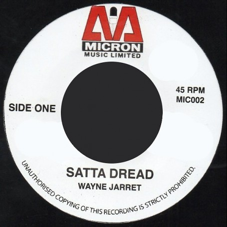 "(7"") WAYNE JARRETT - SATTA DREAD / VERSION"