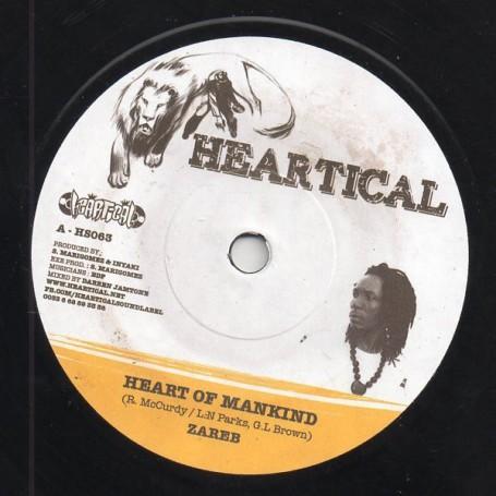 "(7"") ZAREB - HEART OF MANKIND / ROOTSAMALA - KEEP UP THE FAITH"