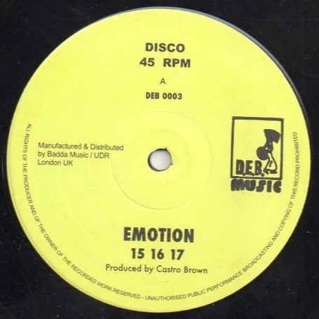 "(12"") 15 16 17 - EMOTION / DENNIS BOVELL - CASTRO BROWN"