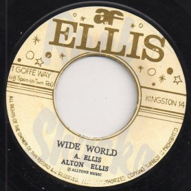 "(7"") ALTON ELLIS - WIDE WORLD / DEDICATION"
