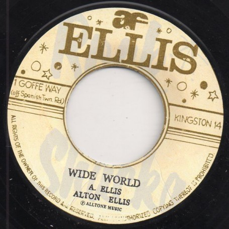 "(7"") ALTON ELLIS - WIDE WORLD / DEDICATION"