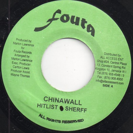 "(7"") HITLIST SHERFF - CHINAWALL / KRISTIN OLSSON & HITLIST - LEAD ME ON"
