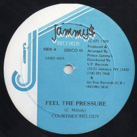 "(12"") COURTNEY MELODY - FEEL THE PRESSURE / VERSION"