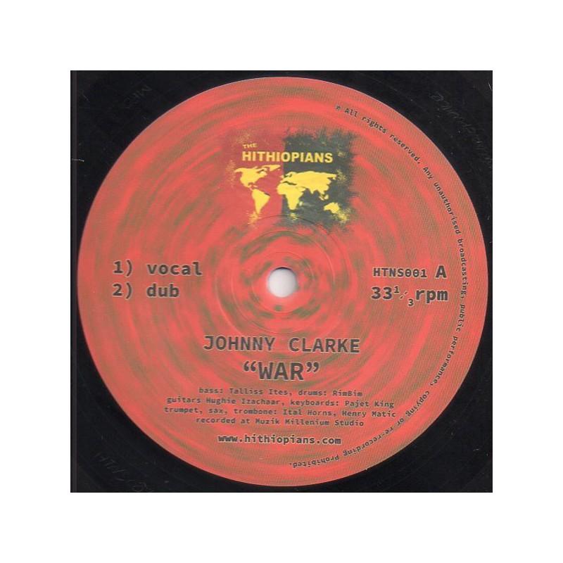 """(10"""") JOHNNY CLARKE - WAR / HUGHIE IZACHAAR - WAR ROUND A BACK"""
