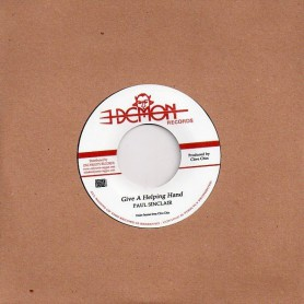"""(7"""") PAUL SINCLAIR - GIVE A HELPING HAND / VERSION"""