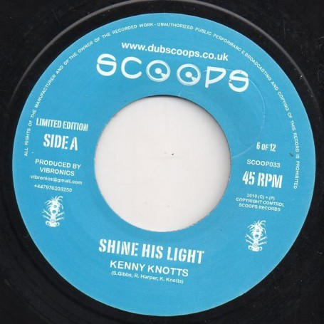 "(7"") KENNY KNOTTS - SHINE HIS LIGHT / VERSION"