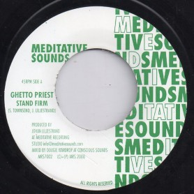 """(7"""") GHETTO PRIEST - STAND FIRM / VERSION"""