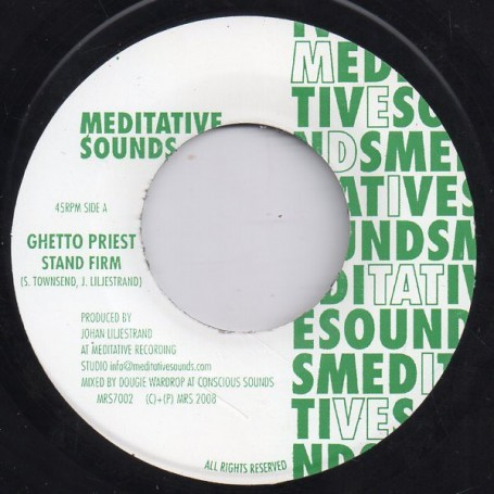 "(7"") GHETTO PRIEST - STAND FIRM / VERSION"