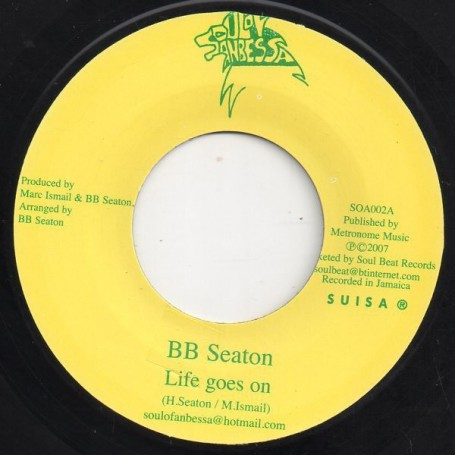 "(7"") BB SEATON - LIFE GOES ON / DENNIS ALCAPONE Feat BB SEATON - IT GOES LIKE THAT"