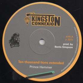 "(12"") PRINCE HAMMER - TEN THOUSAND LIONS (EXTENTED) / DUB PLATE"