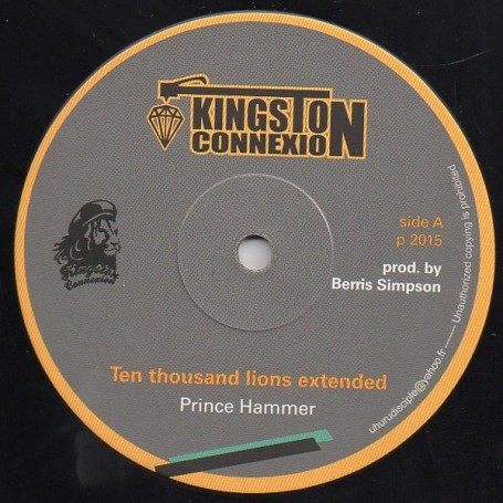"(12"") PRINCE HAMMER - TEN THOUSAND LIONS (EXTENTED) / DUB PLATE"