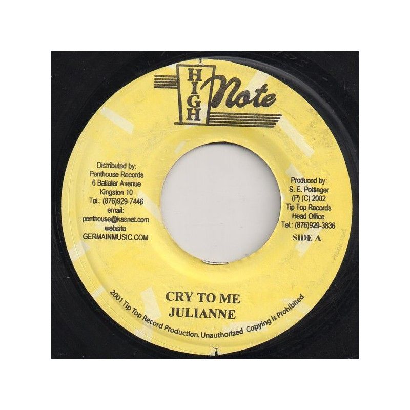 """(7"""") JULIANNE - CRY TO ME / JOE WHITE - IF IT DON'T WORK OUT"""