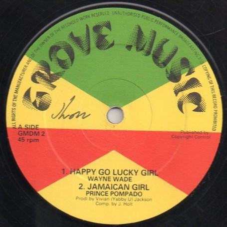"(12"") WAYNE WADE - HAPPY GO LUCKY GIRL / I KISSED A ROSE"