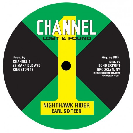 "(10"") EARL SIXTEEN - NIGHTHAWK RIDER / MUSIC MACHINE"