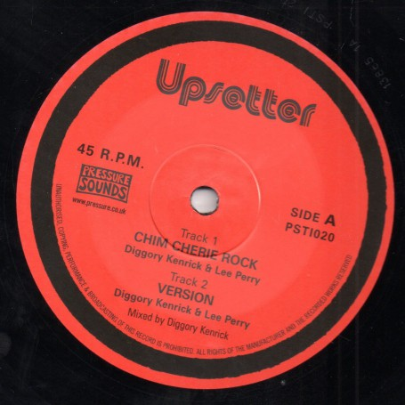"(10"") LEE PERRY, DIGGORY KENRICK, ADDIS PABLO - CHIM CHERIE 4 TRACKS"