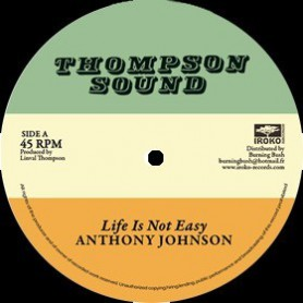 "(12"") ANTHONY JOHNSON - LIFE IS NOT EASY / LINVAL THOMPSON - RASTAFARI IS MY RELIGION"