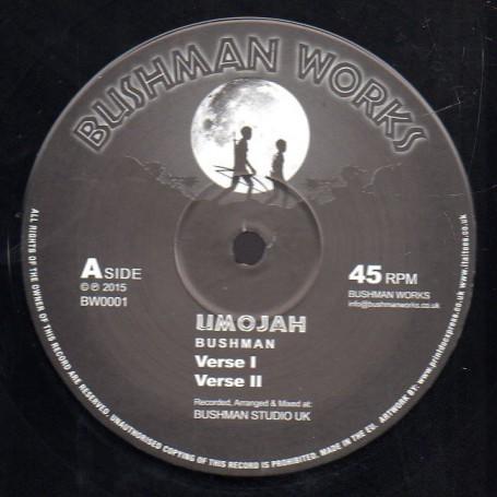 "(12"") BUSHMAN - UMOJAH / RASTAMAN CRY"