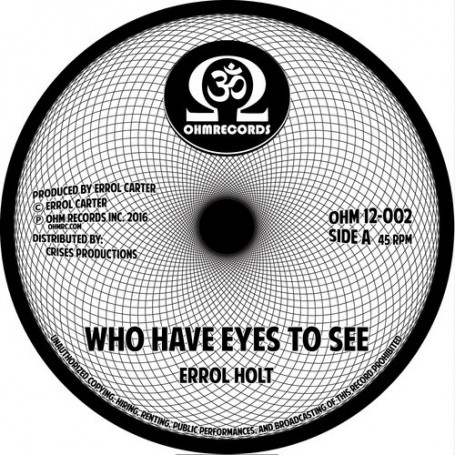 "(12"") ERROL FLABBA HOLT - WHO HAVE EYES TO SEE (Extented) / GIMMIE GIMMIE (Extented)"