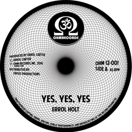 "(12"") ERROL FLABBA HOLT - YES YES YES (Extended) / SWEET REGGAE MUSIC (Extended)"