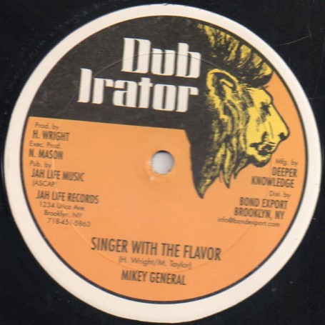"(12"") MIKEY GENERAL - SINGER WITH THE FLAVOR / WALKER JOHN"
