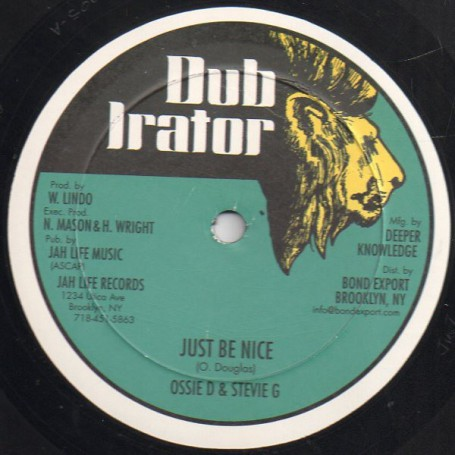 "(12"") OSSIE D & STEVIE G - JUST BE NICE / JUG HEAD - WORDS OF LOVE"
