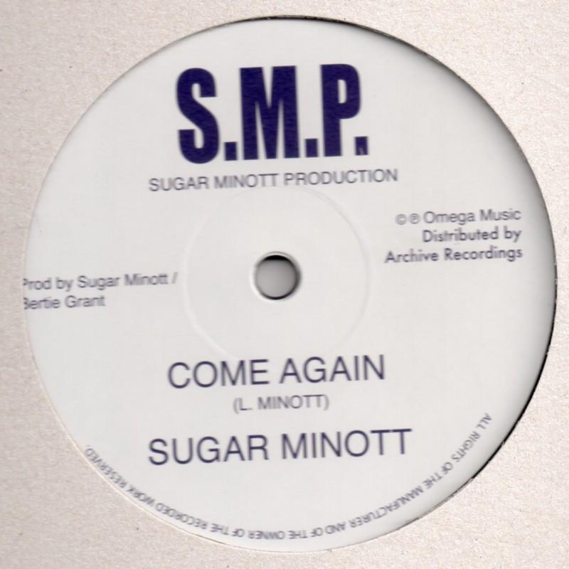 """(12"""") SUGAR MINOTT - COME AGAIN / BERTIE AT THE CONTROLS - DUBBING A STORM AT OMEGA STUDIO"""