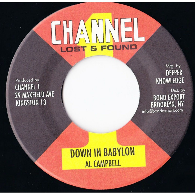 "(7"") AL CAMPBELL - DOWN IN A BABYLON / VERSION"