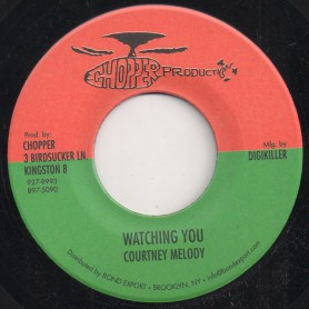 """(7"""") COURTNEY MELODY - WATCHING YOU / VERSION"""