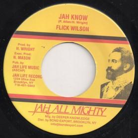"(7"") FLICK WILSON - JAH KNOW / DUB"
