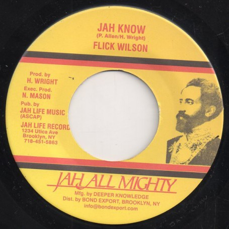 "(7"") FLICK WILSON - JAH KNOW / DUB"