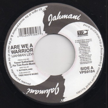 "(7"") IJAHMAN LEVI - ARE WE A WARRIOR / I DO"