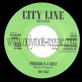 "(7"") JAH I MAZ - FREEDOM IS A MUST / BABA LESLIE - FREEDOM DUB"