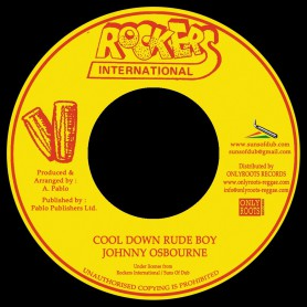 "(7"") JOHNNY OSBOURNE - COOL DOWN RUDE BOY / AUGUSTUS PABLO - COOL DOWN RUDE BOY VERSION"
