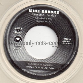 """(7"""") MIKE BROOKS - BLESSED IS THE MAN / DENNIS ALCAPONE FEAT EARL 16"""