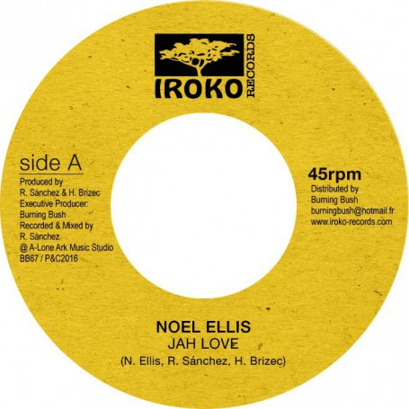 "(7"") NOEL ELLIS - JAH LOVE / VERSION"