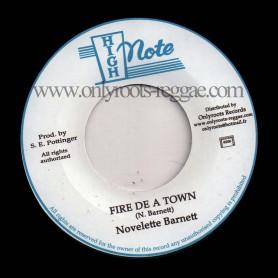 """(7"""") NOVELETTE BARNETT - FIRE DE A TOWN"""